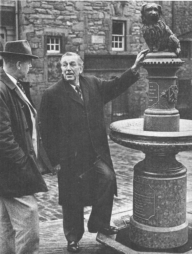 Walt Disney visiting the statue in 1960.jpg